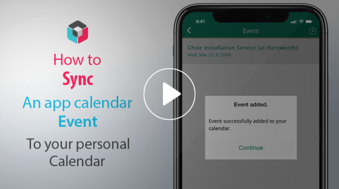 Adding SchoolApp Calendar events to your phones Calendar