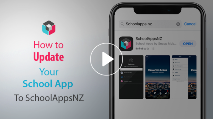 Updating to SchoolAppsNZ
